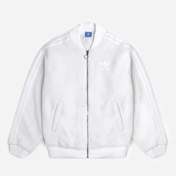 Adidas Originals SST Track Top BR5191 | White Jackets| Clothing - Naked