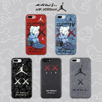 For Iphone 6 6plus 6s Plus 7 7plus 8 Case Air Jordan Kaws Soft Imd Luxury Cases Nba Sports Basketball All Inclusive Phone Cover