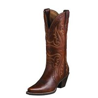 "Ariat 10005908 Heritage Western X Snip Toe 14"" Cowgirl Fashion Riding Boots"