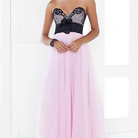Prom Dresses, Celebrity Dresses, Sexy Evening Gowns at PromGirl: Full Length Strapless Sweetheart Blush Formal Dress