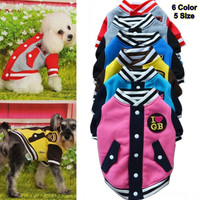 Autumn Dog Pet Puppy Clothes Pet Apparel Baseball Uniform  Jacket  Winter Pet Clothes For Dog Warm Velvet Cat Coat Cloth