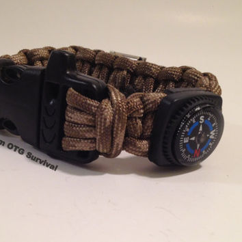 Survival Bracelet: Stuffed Tactical Multifunction 550 Paracord Survival Gear