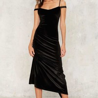 Nasty Gal Maxi Driver Velvet Dress