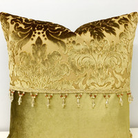 Gold Velvet Pillow Cover,Velvet Pillow,Gold Pillow,Throw Pillow,Velvet Cushion Covers,Yellow Velvet Pillow,Pillow,Gold Couch Pillow Covers