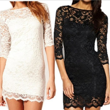 Women Hot Sexy Mini Dress Short Lace Clubbing Cocktail Party Dresses = 1945658372