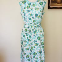 Vintage 1960s Smock/Pinafore Apron With Pocket