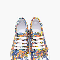 Kenzo Orange Flying Tiger Print Vans Edition Chukka Sneakers for women | SSENSE