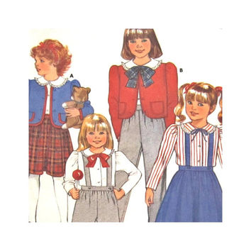Butterick 3439 Uncut Pattern Girls Jumper, Jacket, Skirt, Blouse and Pants  Sizes 5 6 6X Yes It's Easy