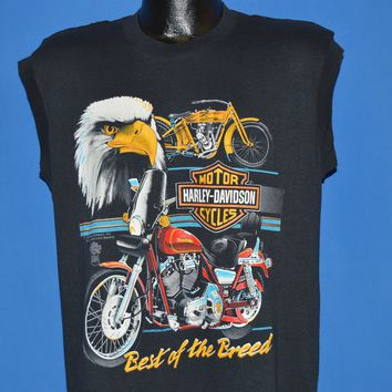 80s Harley Davidson Best Of The Breed Sleeveless t-shirt Large