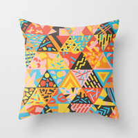 Cutting Shapes Throw Pillow by Tim Easley