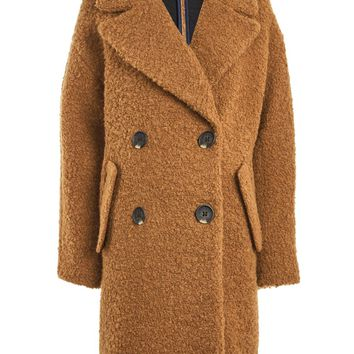 ALICIA Boucle Slouch Coat - Clothing