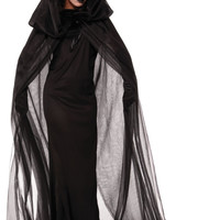 Black Hooded Cape Halloween Costume