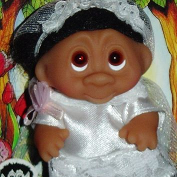 Wedding Bride Dam Troll Doll 3' New Wedding Party Bride