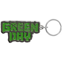 Green Day Band Logo Metal Key Chain Silver