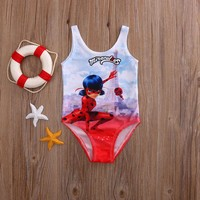 Hot Sale one piece swimsuit Miraculous Ladybug Girls Swimming Costume Bikini Set Bathing Swimsuit Swimwear Beach Swimming Suit