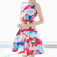 Graffiti Print Summer Dress