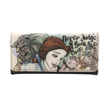 Loungefly Disney Beauty And The Beast Quote Flap Wallet