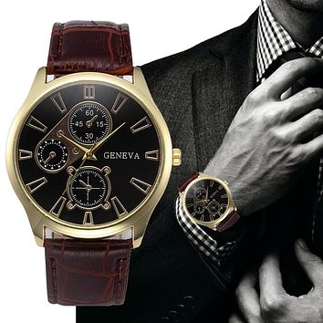 Classy Geneva Retro Design Mens Watch