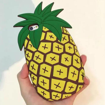 Original Pineapple iPhone 5s 6 6s Plus Case Cover + Free Gift Box