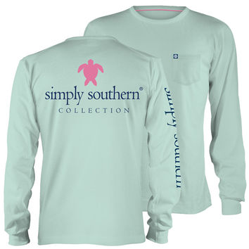 Simply Southern Collection Classic Turtle Logo Long Sleeve Pocket T-Shirt