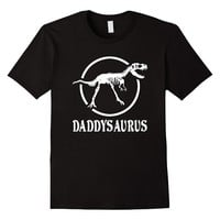 Daddysaurus Funny Dinosaur Skeleton Tee Shirt For Dad