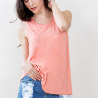 Sugarlips Just Peachy Knit Tank Top