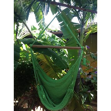 Mission Hammocks Hanging Hammock Chair Organic Cotton - Light Green