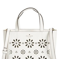 kate spade new york 'faye drive - small hallie' perforated leather crossbody bag | Nordstrom