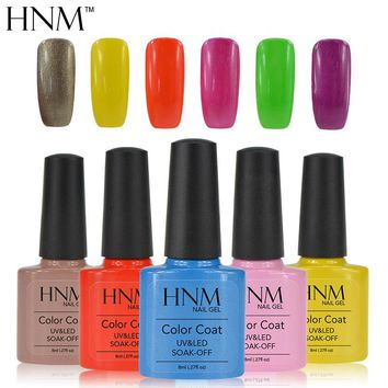 HNM Long last 8ml Soak Off Gel Nail Polish UV Nail Gel Polish Gel Lak 79 Colors Gel Varnish Vernis Semi Permanent Gelpolish