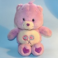 "2002 Care Bears SHARE BEAR 13"" Plush Doll Figure Toy"