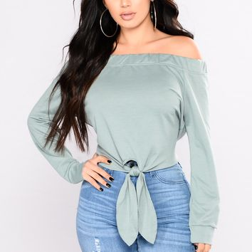 Nothing But Love Top - Dusty Mint