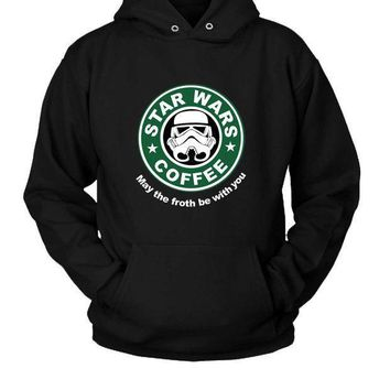 Star Wars Starbucks Funny Fanmade Hoodie Two Sided