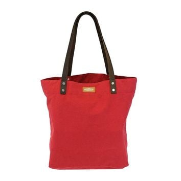 DAY TOTE | Red Canvas