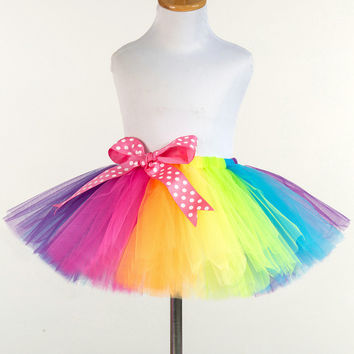 8d597dbcba Rainbow Tutu Kids Girls Tutu Skirt Baby Tutus Cute Fluffy Pettis