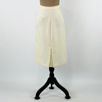 70s Skirt White Skirt XS Women Midi Pencil Skirt 1970s Clothing Vintage Clothing Womens Clothing