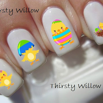 Easter Chicks Nail Decals Waterslide Decals Water Transfers