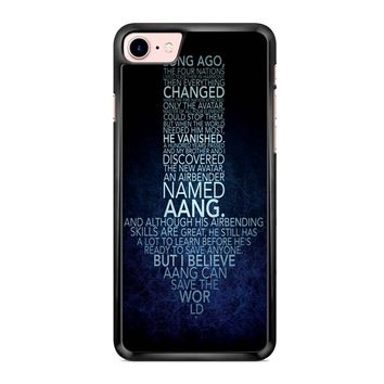 Avatar The Last Airbender Monologue iPhone 7 Case