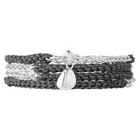 Collections Keepsakes, Grey Charm Wrap Bracelet, Official Links of London