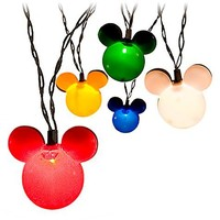 Disney Multicolor Mickey Mouse Holiday Lights -- Set of 10 | Disney Store