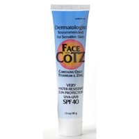 Fallene Face Cotz Water-Resistant Sun Protection UVA/UVB SPF 40, 1.5-Ounce Tube