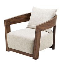Walnut Pillow Back Armchair | Eichholtz Rubautelli