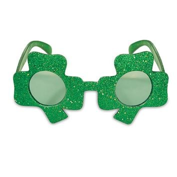 Irish Party Decoration Glasses Headwear St Patricks Day Decor Lucky Green Clover Funny Clover Hat Glasses Festival  Party Props