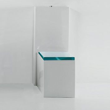 GLASS Close coupled toilet by GSG Ceramic Design design Massimiliano Abati