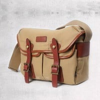 Canvas messenger bag for camera with leather from Vintage rugged canvas bags
