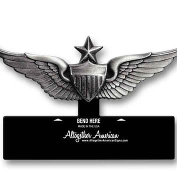 Senior Aviator Wings Army Table Top Sign