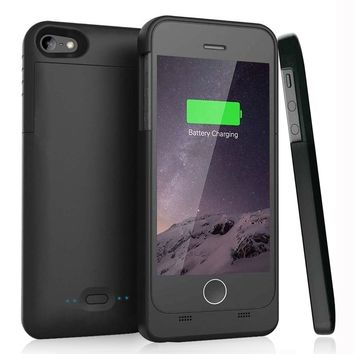iPhone 5 5S SE battery case [MFI Certified] External Protective Portable Charger