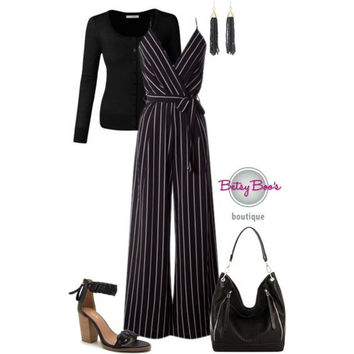 Set 654: Black Striped Jumper (shoes and bag sold seperately)
