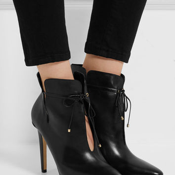 Jimmy Choo - Murphy cutout leather ankle boots