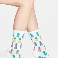 Women's Hot Sox 'Pineapples' Crew Socks