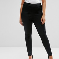 ASOS CURVE Pull On Jeggings in Black